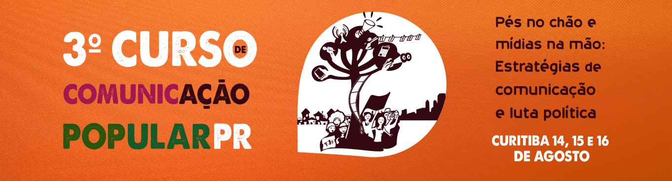 Logo Curso Vito Gianotti de Comunicação Popular do Paraná