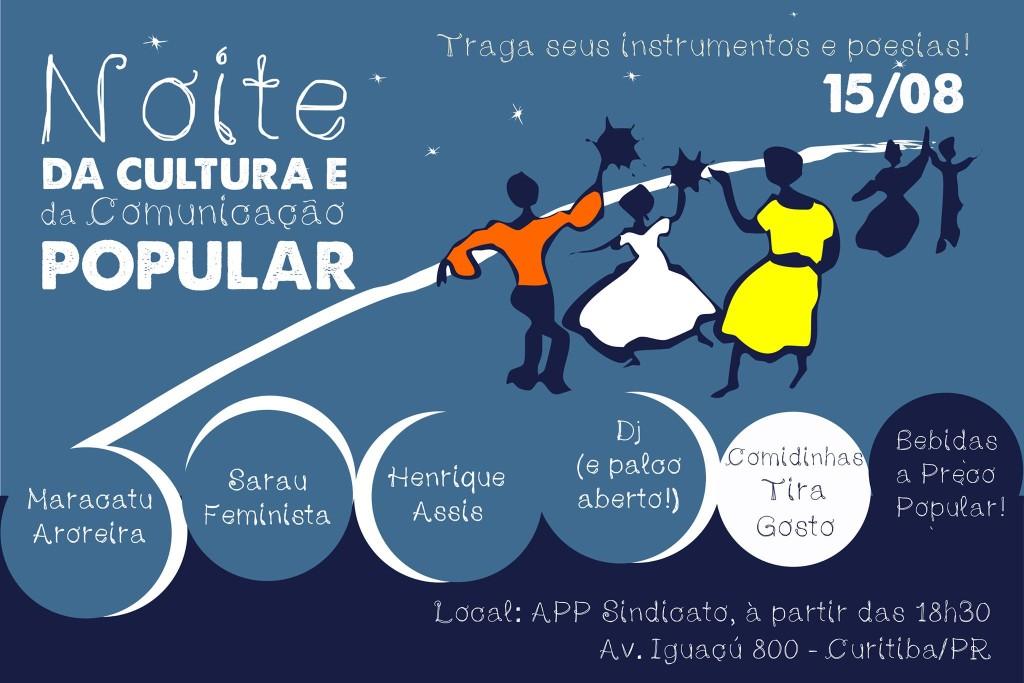 Noite da Cultura e da Comunicação Popular é umas das atividades culturais previstas no evento